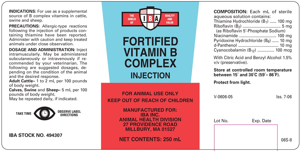 Fortified Vitamin B Complex - IBA, Inc : Veterinary Package