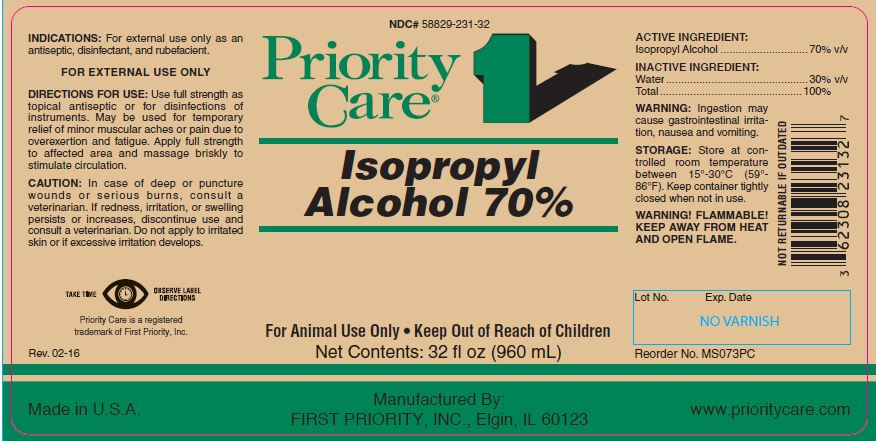 Isopropyl Alcohol - FIRST PRIORITY INCORPORATED: Veterinary
