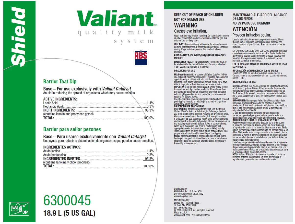 Valiant Shield - ABS Global Inc : Veterinary Package Insert